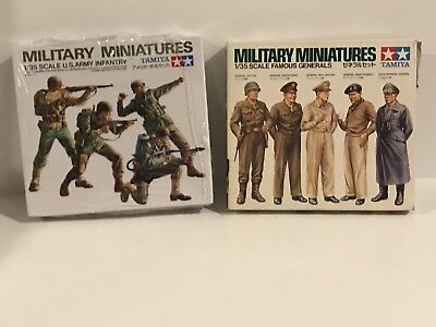 1972 Tamiya Military Minatures, u.s army infantry, famous generals.