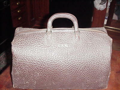 Vintage Physician's  Doctors Medical Tool  Bag  Leather Cowhide Steampunk Case