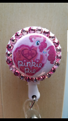 Pinky Pie My Little Pony Swarovski Crystal Retractable ID Name Badge