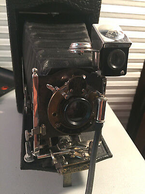 Antique Kodak No. 3 Model G Folding Pocket Camera W/ Orig. Box - - Serial #22033