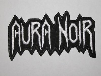 AURA NOIR logo embroidered NEW patch black thrash metal