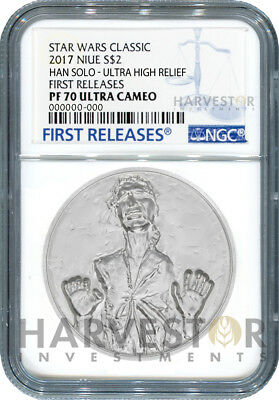 Star Wars Han Solo Ultra High Relief - 2 Oz. Coin - Ngc Pf70 First Releases