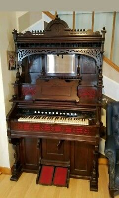1890s Bristol pump reed parlor organ antique