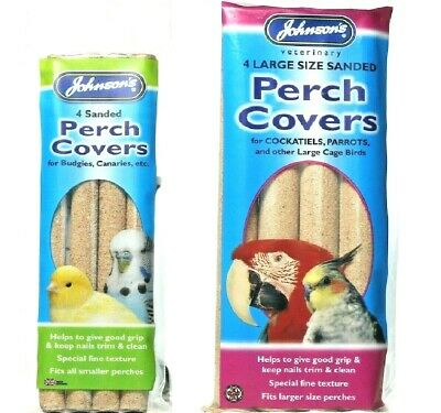 PERCH COVERS - (Small - Large) - Johnsons Bird Sand Cover Perches Pet bp PawMits