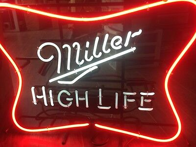 Miller Lite Neon Beer Sign (Soft Cross Neon)