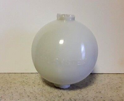 Shinn System White Milk Glass Lightning Rod Ball Roof Yard House Decor