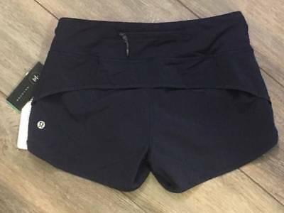 Lululemon Speed Short MDNI Midnight Navy NWT Womens Running Short 2 4 6 8 10
