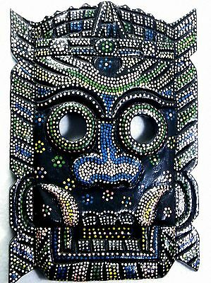 PRIMITIVE TRIBAL TIKI WOODEN WALL HANGING MASK BALI INDONESIAN HOME DECOR No.05