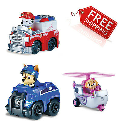 Paw Patrol Rescue Racers 3 Pack Vehicle Set, Marshall/Chase/Skye Kids Gift