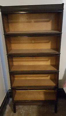 MATCHING SET of 2 Antique Macey 5-Stack Section Barrister Bookcases