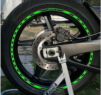 NEW! Custom Printed KAWASAKI Dash Wheel Stripes Rim Tape 7
