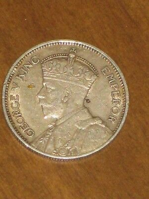 1935 Southern Rhodesia 1 Shilling Silver Coin - King George V