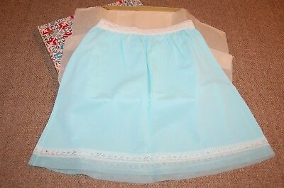 Vintage HER MAJESTY Girl's HALF SLIP~ Turquoise, Size 8  W/ Gift Box, Never Worn