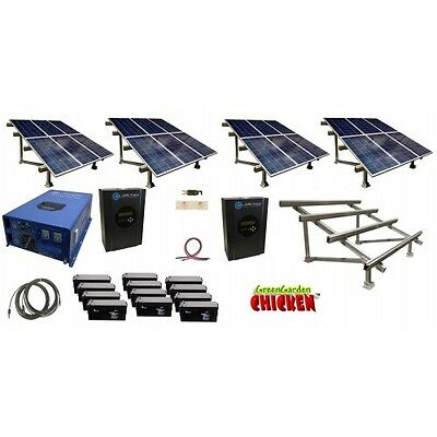 COMPLETE Off Grid Solar Kit with 12000Watt Inverter Charger with Solar Rack Free