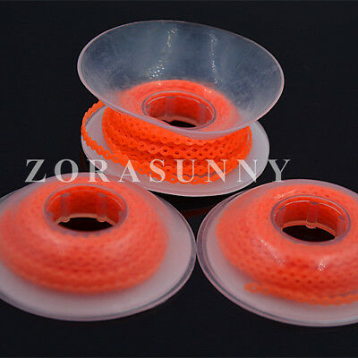Dental Power Chain Orthodontics Elastic Ultra Rubber Bands 5Rolls Orange Short