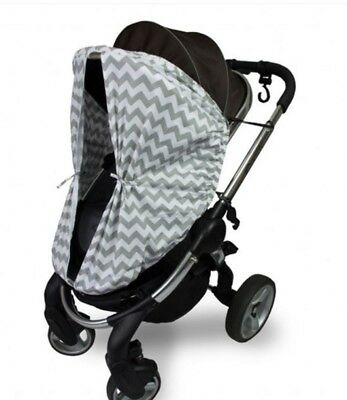 New Outlook Sleep Eazy Stroller Cover Grey Chevron Free Express Shipping