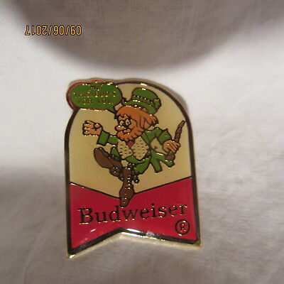 """Rare Budweiser Beer Leprechaun """"This Buds For You"""" Tac Pin (Different)"""
