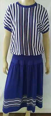 KENWALL vintage ladies size 16 skirt and top set 2 piece outfit stretch knit