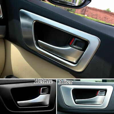 Inner Door Handle Bowl Cover Trim 4Pcs Fit For Toyota Highlander Kluger 2014-16