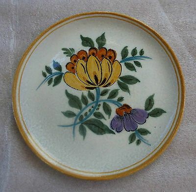 Vintage Gouda Pottery Royal Zuid Holland Hand Painted Plate Artist Signed Willy