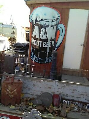 A and W rootbeer sign great condition from Taft CA era 1950s