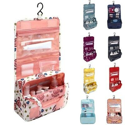 Women Travel  Cosmetic Waterproof Hanging Zipper Organizer Storage Make Up Bags