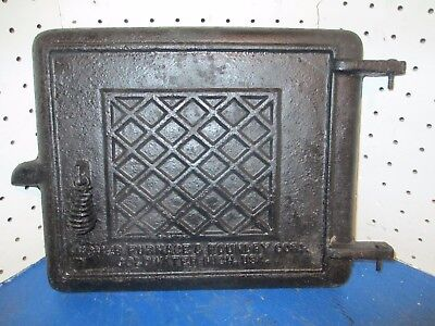 Vintage Steampunk homer furnace & foundry coldwater michigan Cast Iron Door