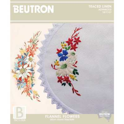 NEW Beutron Flannel Flowers Embroidery By Spotlight