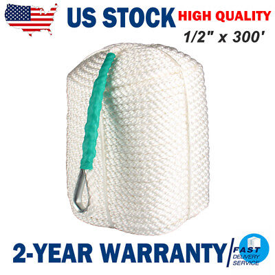 "1//2/""x300/' Twisted Three Strand Nylon Anchor Rope Boat with Thimble"