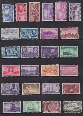 USA 110 Mint original Gum all different stamps for collection.