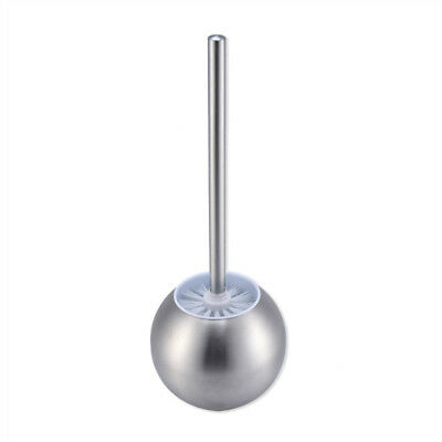 Stainless Steel Toilet Bowl Brush Bathroom Cleaning Tool Holder Base Storage