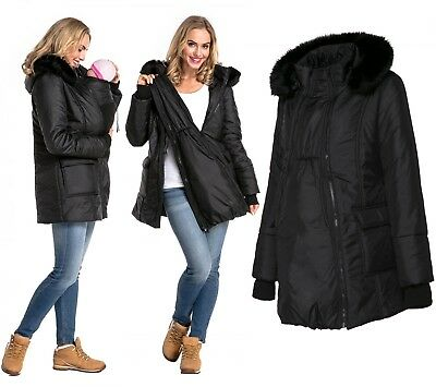 Happy Mama Women's Maternity Padded Jacket 3in1 Two-Sided Removable Insert. 449p