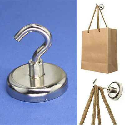 Strong Magnet Hooks Rare Earth Neodymium Magnetic Hanger Holder 28kg D25X41mm