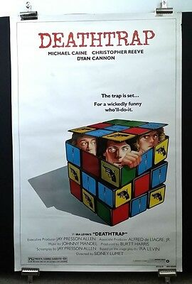 DEATHTRAP 1982 Vtg Movie Poster Theatrical Rls RUBIK's Christopher Reeves 41x27