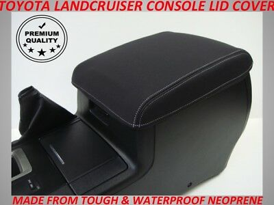 Toyota Landcruiser 200 Series  Neoprene  Console Lid Cover (Wetsuit Material)