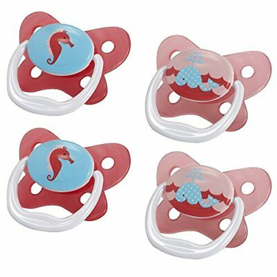 Dr. Browns PreVent Contour Pacifier Stage 1 0-6m Polka Dots Pink 4-Pack