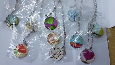 10 pretty tree necklaces on chains - joblot bundle wholesale jewellery