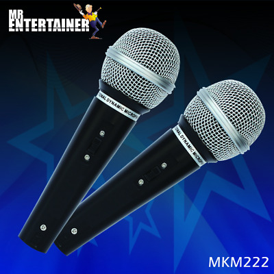 Mr Entertainer MKM222 Karaoke Microphones (Pair). Perfect for Karaoke Machines