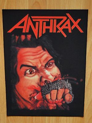 ANTHRAX Fistful Of Metal BACK PATCH printed NEW thrash metal