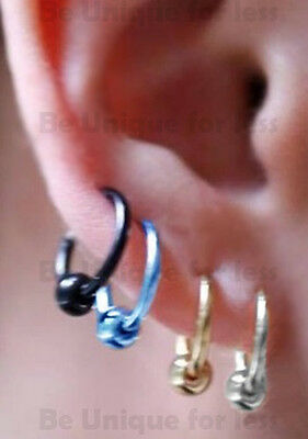 Fake Spring Clip On Nose Ring Septum Lip Fake Earring Piercing Rings With Ball