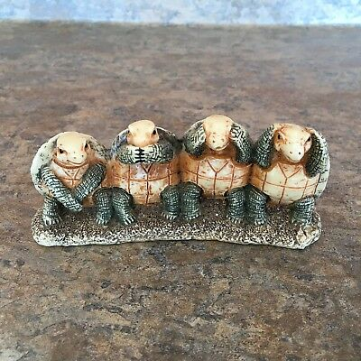 Turtle Friends See Hear Speak No Evil Figurine Resin Detailed Statue Collection