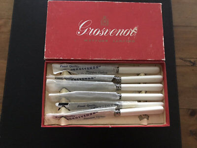 Vintage Grosvenor Dessert Knives. Boxed.
