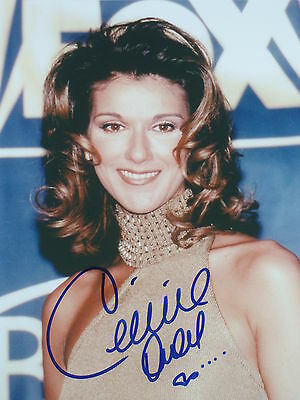 Celine Dion Hand Signed  8 x 10 Photo
