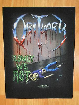 OBITUARY Slowly We Rot BACK PATCH printed NEW death metal