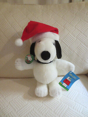Snoopy Plush Santa Hat Determined Productions