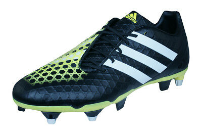 adidas Predator Incurza SG Mens Rugby Boots - Black and Yellow