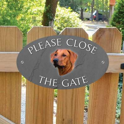 Rhodesian Ridgeback Sign,  Please Close The Gate Sign, Dog Shut the Gate Plaque