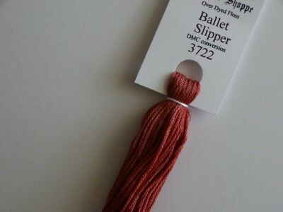 Over-dyed embroidery floss,  Ballet Slipper,  DMC 3722  20yards