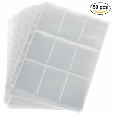 Lictin 450 Pockets Trading Card Sleeves Storage Wallets Album Pages Collection,