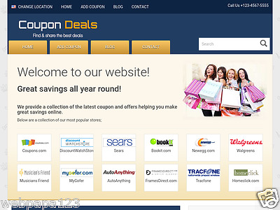 Wordpress Based Coupons Sharing Website, 100% Autopilot, Home Business